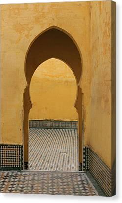 Canvas Print featuring the photograph Key Hole Doors by Ramona Johnston