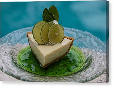 Key Lime Pie 25 Canvas Print by Michael Fryd