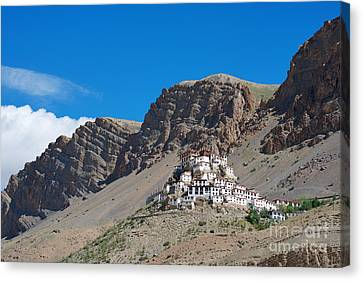 Canvas Print featuring the photograph Key Monastery by Yew Kwang