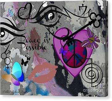 Key To Energy Of Peace  Canvas Print by Bobbee Rickard