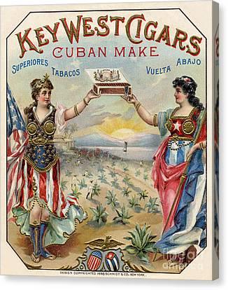 Key West Cigars Canvas Print by Jon Neidert