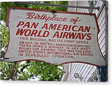 Key West Florida - Pan American Airways Birthplace Canvas Print by John Stephens