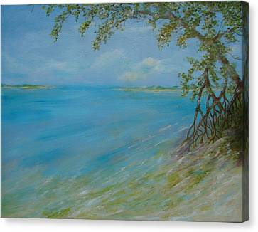 Key West Hanging Out Canvas Print by Phyllis OShields