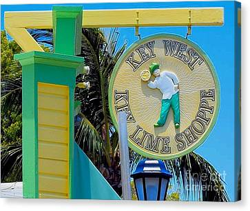 Key West Key Lime Shoppe Canvas Print by Janette Boyd