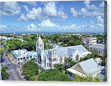 Canvas Print featuring the photograph Key West by Olga Hamilton