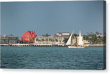 Key West Shoreline Canvas Print by Frank Mari