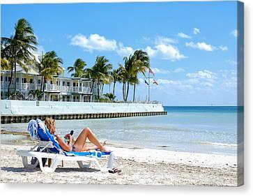 Key West Sunbather Canvas Print