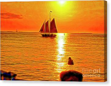 Key West Sunset Canvas Print by Charles Haaland