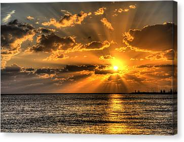 Florida Keys Canvas Print - Key West Sunset by Shawn Everhart