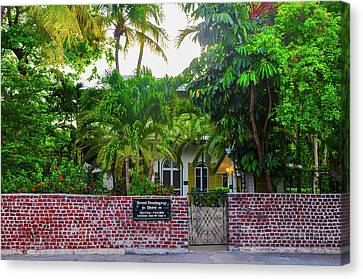 Key West - The Ernest Hemmingway House Canvas Print by Bill Cannon