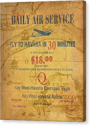 Key West To Havana Canvas Print