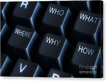 Keyboard With Question Labels Canvas Print by Blink Images