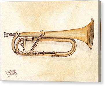 Keyed Trumpet Canvas Print by Ken Powers