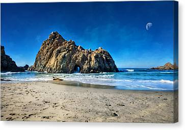 Canvas Print featuring the photograph Keyhole Rock At Pheiffer Beach #14 - Big Sur, Ca by Jennifer Rondinelli Reilly - Fine Art Photography