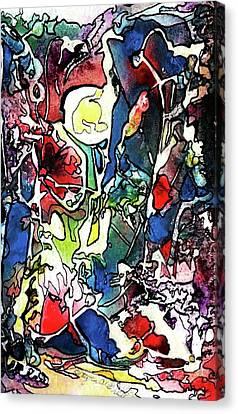 Aperture Canvas Print - Keyhole View by Betty Lu Aldridge