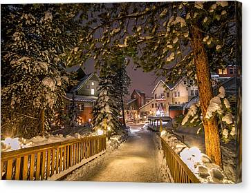 Keystone Village Bridge Canvas Print