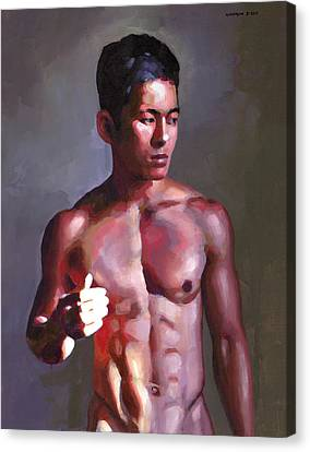 Khanh In Late-afternoon Light Canvas Print by Douglas Simonson