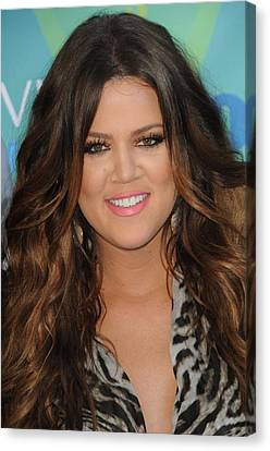 Khloe Kardashian At Arrivals For 2011 Canvas Print by Everett