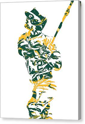 Khris Davis Oakland Athletics Pixel Art 1 Canvas Print