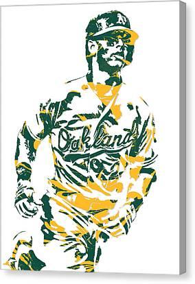 Khris Davis Oakland Athletics Pixel Art 2 Canvas Print