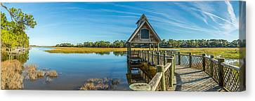 Kiawah Island Boathouse Panoramic Canvas Print