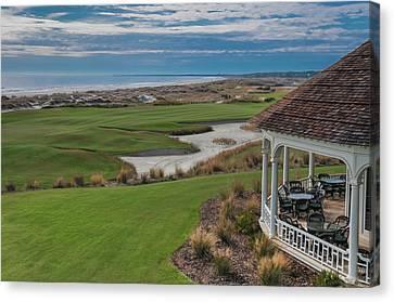 Kiawah Island Ocean Golf Course Canvas Print by Connie Mitchell