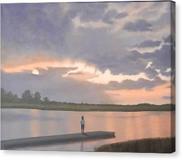 Kiawah Sunset Canvas Print