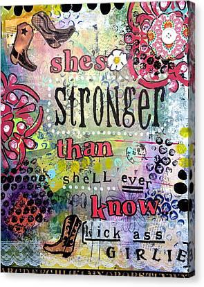 Kick Ass Girlie Canvas Print