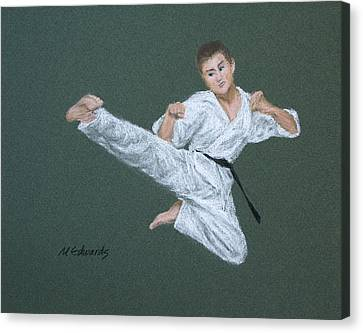 Kick Fighter Canvas Print by Marna Edwards Flavell