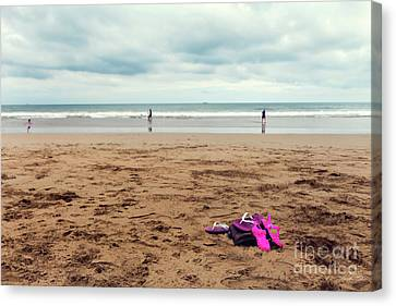 Canvas Print featuring the photograph Kick Off Your Shoes by Linda Lees