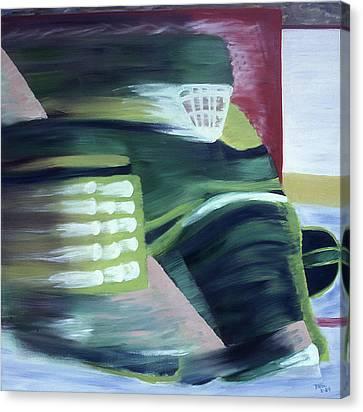 Kick Save Canvas Print by Ken Yackel