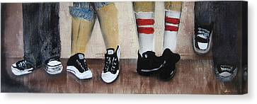 Kickin It Old School Canvas Print by Nomad