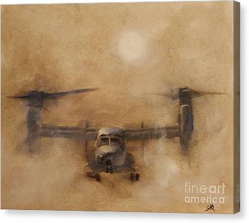 Kicking Sand Canvas Print by Stephen Roberson