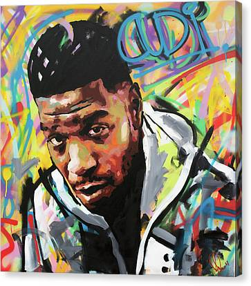 Canvas Print featuring the painting Kid Cudi by Richard Day