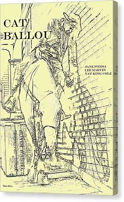 Michael Canvas Print - Kid Shelleen, Cat Ballou, Academy Award Winner  Lee Marvin by Thomas Pollart
