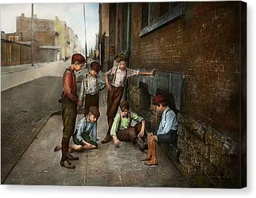 Kids - Cincinnati Oh - A Shady Game 1908 Canvas Print
