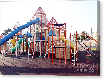 Kids Play Ground - Series 5 Canvas Print by Doc Braham