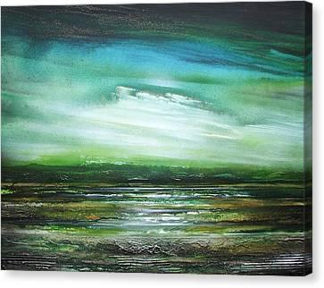 Kielderwater Rhythms And Reflections No2 Canvas Print