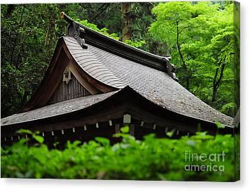 Kifune Shrine Canvas Print by Stevyn Llewellyn
