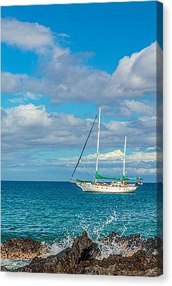 Kihei Sailboat 4 Canvas Print
