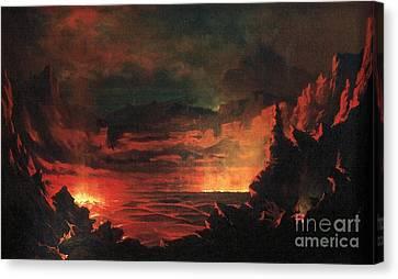 Kilauea Caldera Sandwich Islands Canvas Print