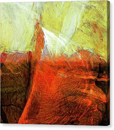 Canvas Print featuring the painting Kilauea by Dominic Piperata
