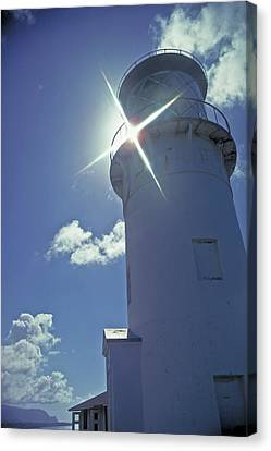 Canvas Print featuring the photograph Kilauea Lighthouse by Marie Hicks