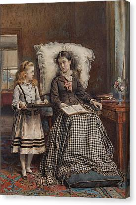Kilburne The Nursemaid Canvas Print