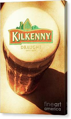 Kilkenny Draught Irish Beer Rusty Tin Sign Canvas Print