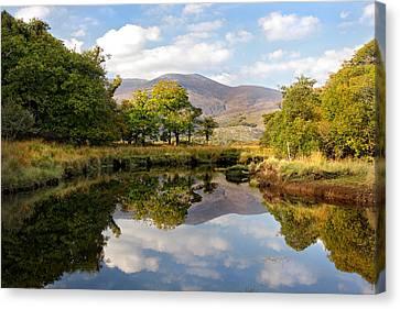 Killarney Lake Reflection Ireland Canvas Print by Pierre Leclerc Photography
