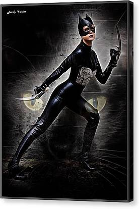 Dc Universe Canvas Print - Killer Cat Unbound by Jon Volden