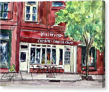 Kilwins On Main Canvas Print by Tim Ross