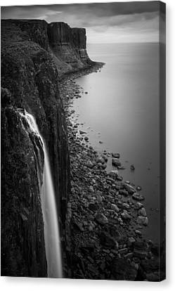 Kilt Rock Waterfall Canvas Print by Dave Bowman