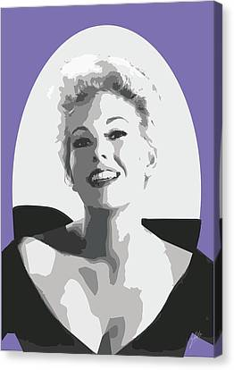 Kim Novak Canvas Print by Quim Abella